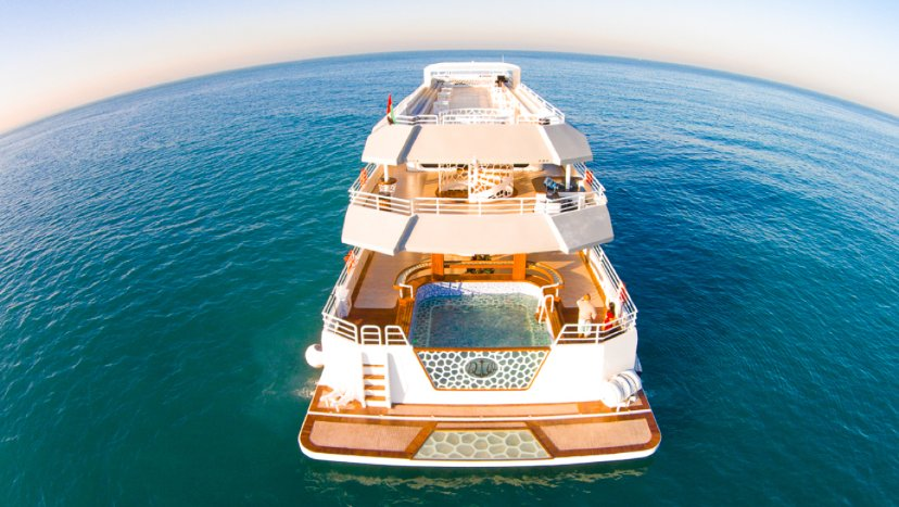 Hire yacht in dubai marina, yacht majesty 155 ft