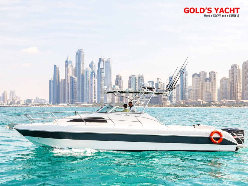 Boat 34 ft., for 5 till 10 people, price: 1800 aed