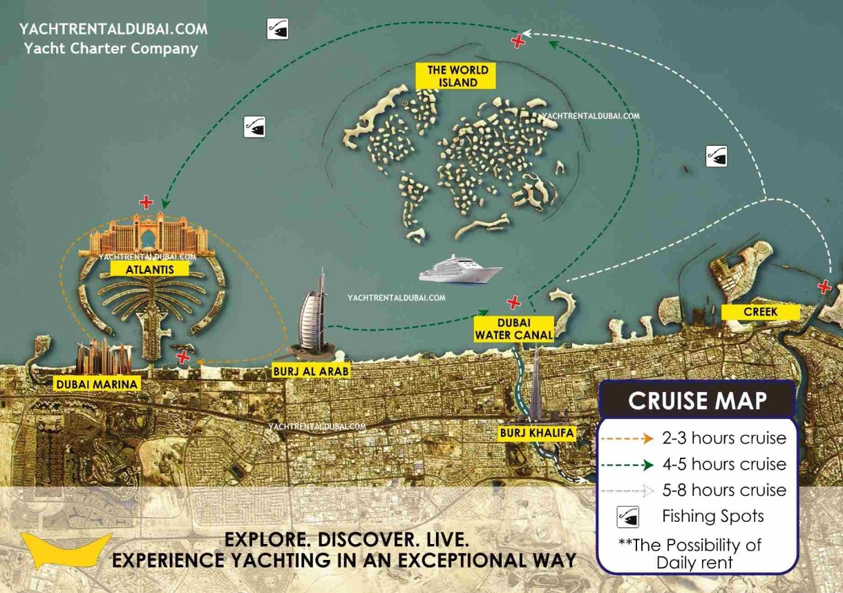 Cruise map, yacht cruise map - yachtrentaldubai.com