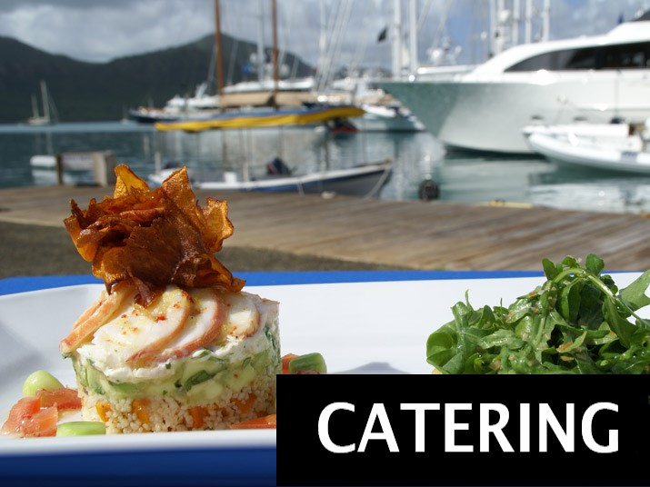 Catering Menu with Gold's Yacht