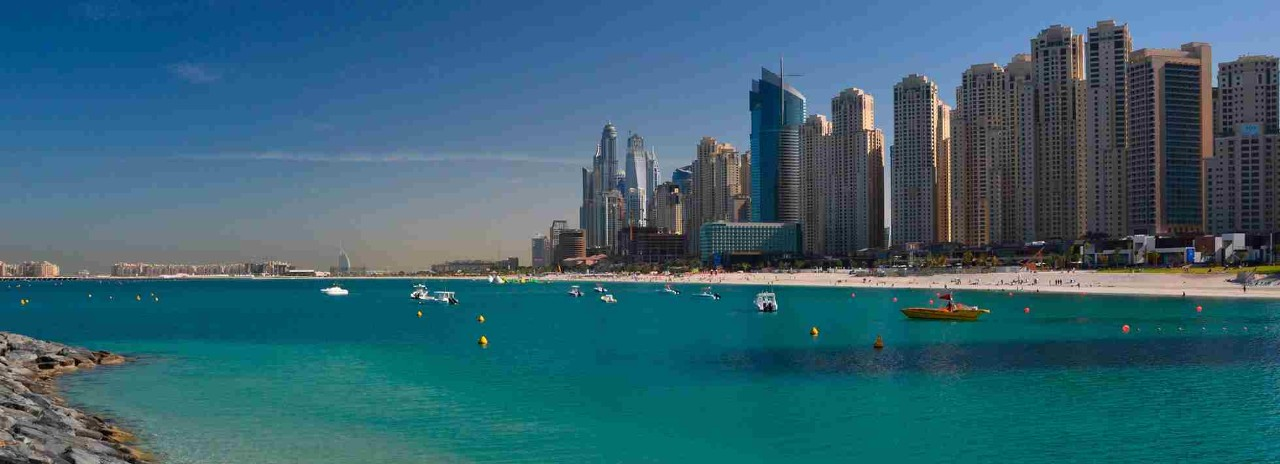 Yacht rental Dubai, cruise map